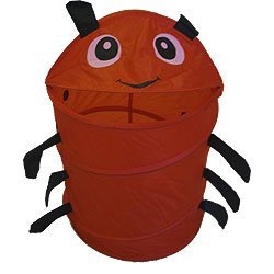 - Ware Manufacturing Red Ladybug Animal Insect Nylon Hamper-Storage Basket