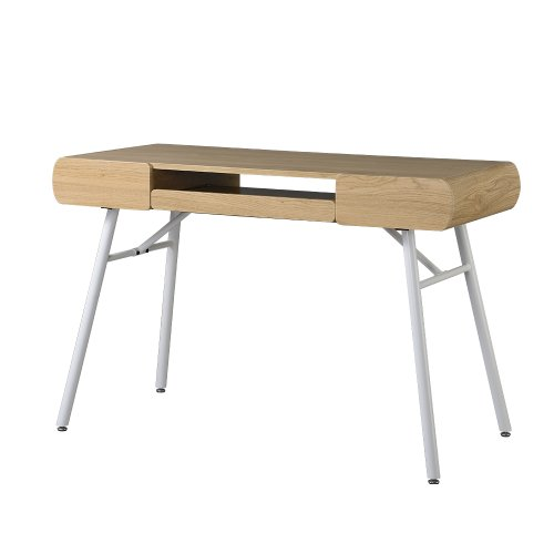 Techni Mobili Modern Computer Desk with Pull Out Keyboard Panel, Pine