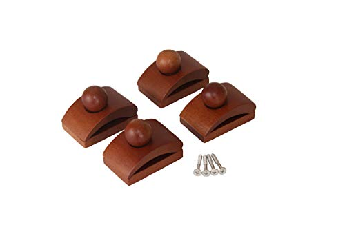Classy Clamps Wooden Quilt Hangers - 4 Small Clips (Dark) and Screws for Wall Hangings. Hang up and Display Quilts, Tapestries, Rugs, Fiber Art, and More!