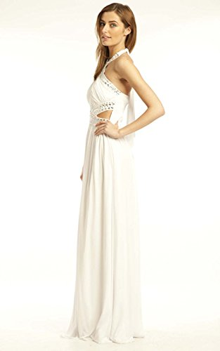 Polly Maxi Abend Kleid IKRUSH White Womens 5ARHSwqWZ