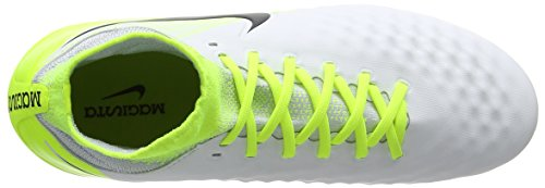 Nike Jr Magista Obra II FG, Botas de Fútbol Unisex Niños Blanco (White/black-volt-pure Platinum)