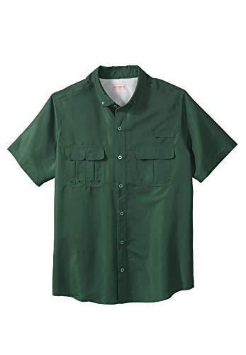 - Boulder Creek Men's Big & Tall Off-Shore Short-Sleeve Sport Shirt, Forest Green Big-3XL