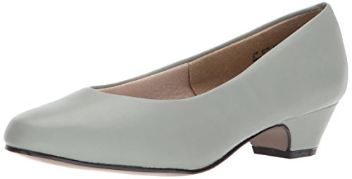 Soft Style by Hush Puppies Women's Angel II Pump, wrought Iron Kid, 11.0 Extra Wide US