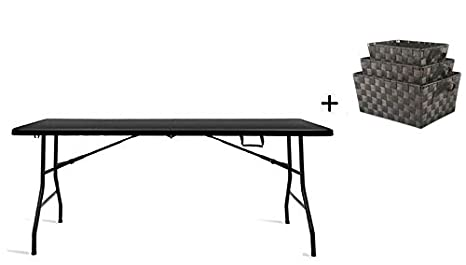 Amazon.com: Mesa plegable portátil de plástico de 6 pies ...
