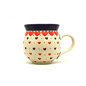Polish Pottery Mug – 11 oz. Bubble – Love Struck