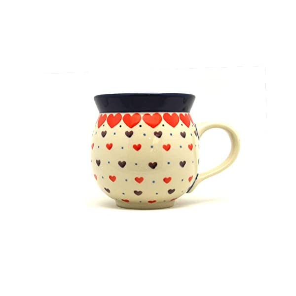 Polish Pottery Mug – 11 oz. Bubble – Love Struck