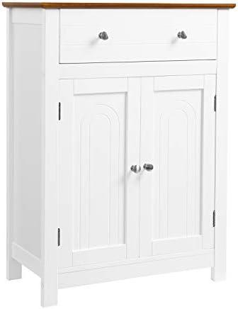 picture of VASAGLE Free Standing Bathroom Storage Drawer and Adjustable Shelf, Kitchen