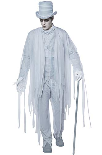 California Costumes Men's Haunting Gentleman Costume, white/gray,