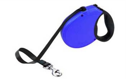 Flexi Freedom Soft Grip Retractable Belt Dog Leash, Large, 16-Feet Long, Supports up to 110-Pound, Blue/Black, My Pet Supplies