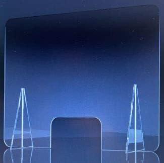 Mampara de metacrilato mostrador 5mm proteccion para oficinas mostradores manicura sobremesa material transparente (80X80): Amazon.es: Oficina y papelería