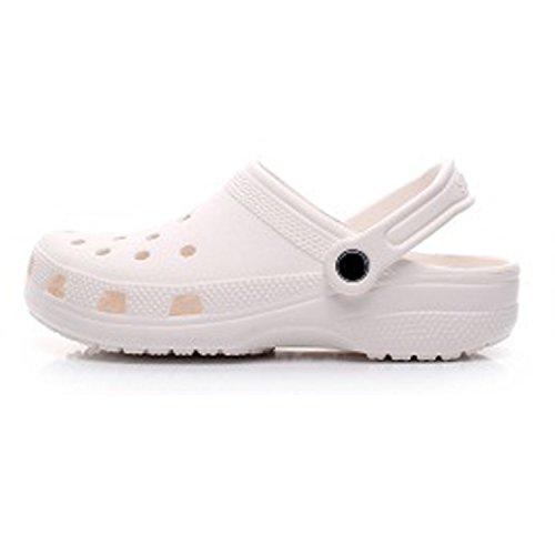 Confortable Mode Mules Sandales Compensée Femme Doux Haut Blanc Chic Talons Plage Mode Frestepvie été Fille gq8dvHvw