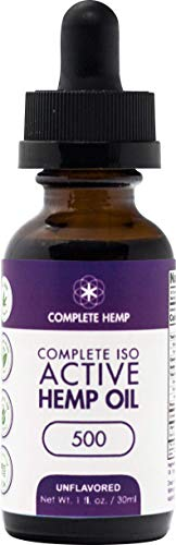 Complete Hemp Complete ISO Active Hemp Oil 500 Unflavored in