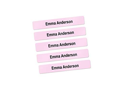 Mini School Supply Labels, Name Labels for Kids, Pen/Pencil Labels (Light Pink)