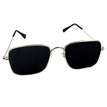 Dervin Black Square Metal Body Kabir Singh Sunglasses for Men Women (Black)