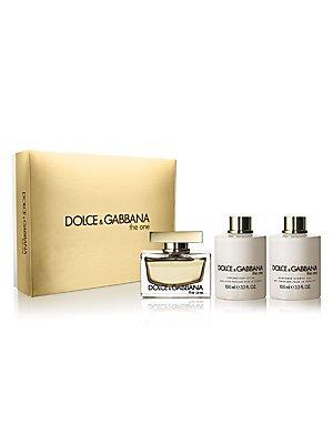 Dolce Gabbana Lotions (Dolce and Gabbana 3 Piece Set for Women, The One (2.5 Ounce Eau de Parfum Spray, 3.4 Ounce Perfumed Body Lotion, 3.4 Ounce Perfumed Shower Gel))
