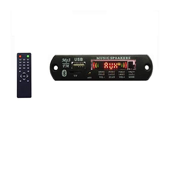Bebop Bluetooth FM USB AUX Card MP3 Stereo Wireless TF Audio Player Decoder Module Board Kit with IR Remote for Amplifiers