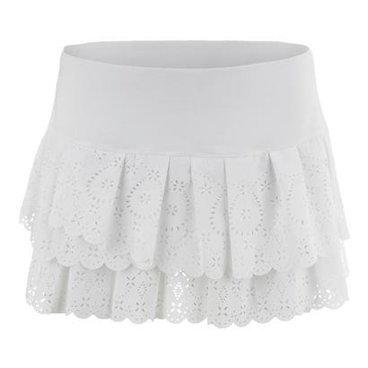 Lucky in Love Laser Pleat Tier Skirt-Medium-White by Lucky In Love (Image #5)