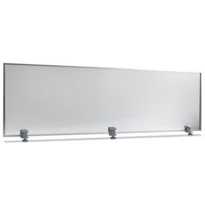 Alera PP6518 Polycarbonate Privacy Panel, 65w X 18h, Silver