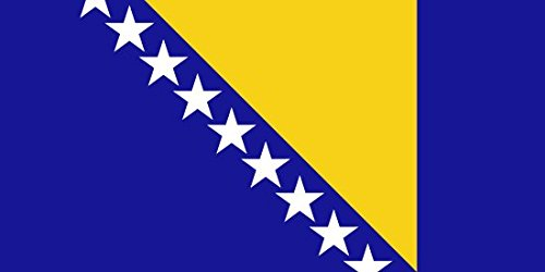 Bosnia Herzegovina Flag 3ft x 2ft Medium - 100% Polyester - Metal Eyelets - Double Stitched ()