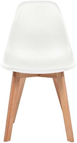 Chaises de salle à manger 2 pcs plastique blanc