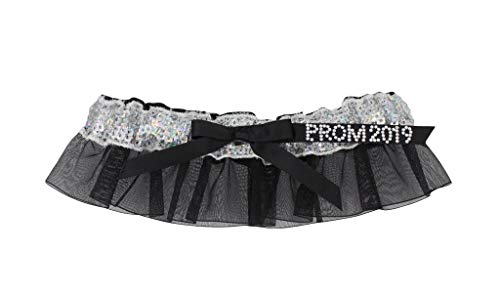 Prom 2019 Women's Sequin Garter with Crystal