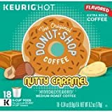 The Original Donut Shop Nutty Caramel Keurig Single-Serve K-Cup Pods, Medium Roast Coffee, 18 Count - Pack of 1