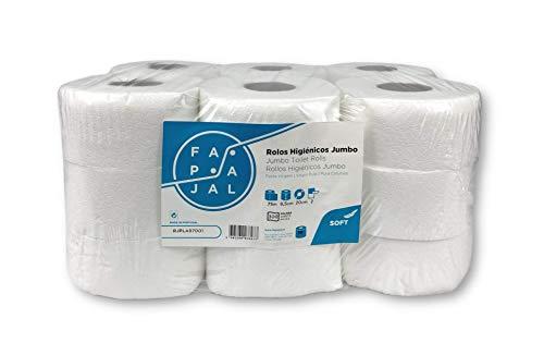 Toiletpapierrol, jumbo-cellulose, 2-laags, gelamineerd, 75 m, 18 rollen