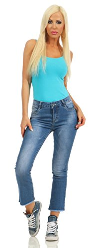 M 40 Jeans turquoise Bleu Turquoise Femme Fashion4Young wO7qn1RO
