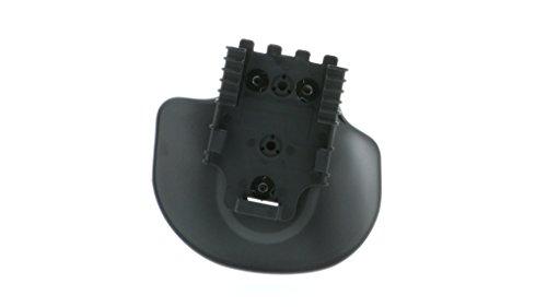 Safariland 568BL Injection Molded Flexible Paddle W/Qls 22 Receiver, Plain Black, Right Hand Plain Black -