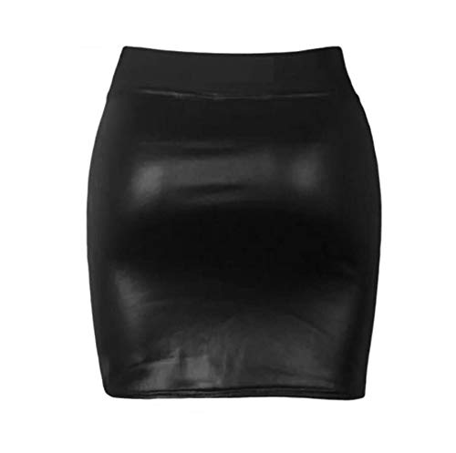 Band PVC 54 Fashion18 Jupe Skirt Wet EU Mini Taille Robe 36 Top Legging Top Dress Moulante Femmes Look ZCzqZnaS
