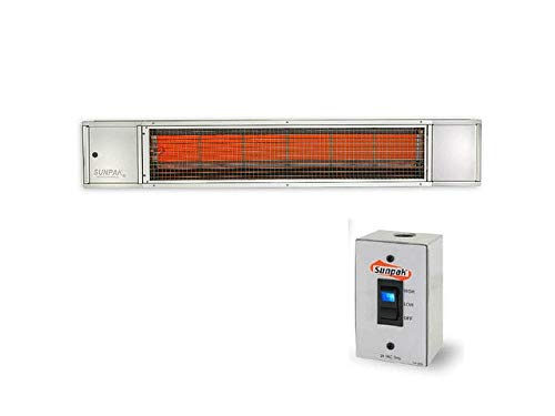 (Sunpak Tsh 48-inch 34,000 Btu Propane Two-stage Infrared Patio Heater - Stainless Steel - S34 S Tsh-lp)