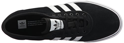 Adidas Originals Adi-ease Lace Up Shoe, Collegiate Red/black/dark Grey Heather Solid Grey, 6.5 M Us Core Black/White/Core Black