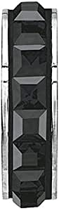 SWAROVSKI pave Stopper Bead Jet Hematite Color Stainless Steel Becharmed 15 mm-3.30 mm