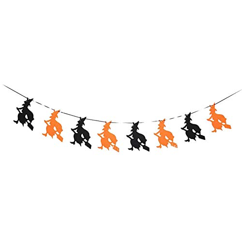 GuanGsskuo Halloween Skull Witch Letters Bunting Banner Bar Restaurant Home Party Decor Witch