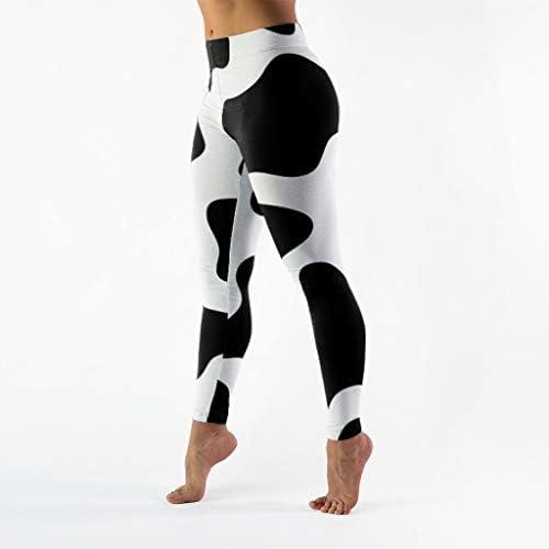girl leggings Pants Cow black spots Pattern Printed Women Legging pant C0075
