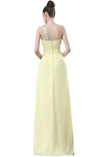 TOSKANA BRAUT - Vestido - Una manga - para mujer amarillo