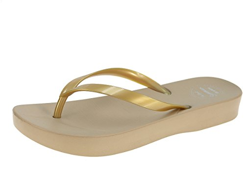 Beppi señoras de las chancletas de zapatillas zapatillas zapatillas de verano Oro