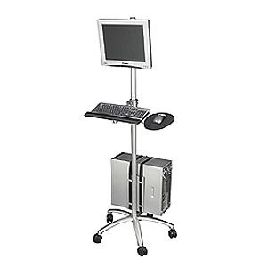 Aluminum Mobile Computing Workstation (Platinum Lcd Cart)