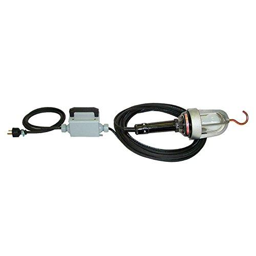 Low-Volt. Exp.-ProofA Hand Lamp 12V Trans, 26W Quad Tube, 50' Cord w/Plug (Tube Quad Plug)