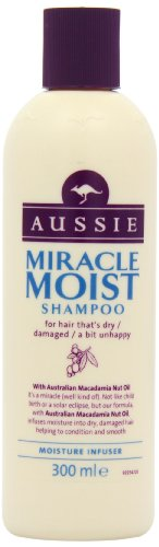 (Aussie Miracle Moist Shampoo For Dry, Really Thirsty Hair, 300ml)
