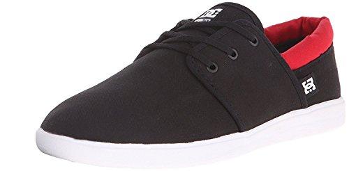 DC Mens Haven Skate Shoe, Negro/Rojo, 38 D(M) EU/5 D(M) UK