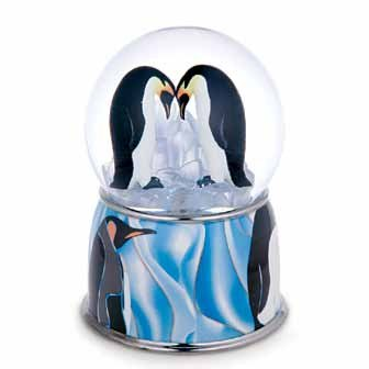 Penguin Pair Musical Water / Snow Globe By Twinkle, Inc. - Penguin Snowglobe