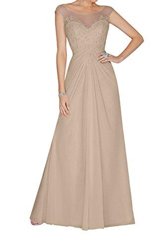 Damen Promkleider Anmutig Perlen Pailletten Abendkleider Champagner Charmant Lilac Lang und Ballkleider Spitze mit dC56Yx