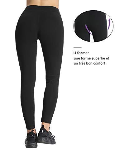 Yoga Bicicleta negro 4how y Pantalones correr Gris Fitness para mujer deportivos para aP1dwO