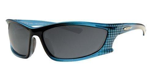 REVEX polarisierte sportliche Herren SONNENBRILLE Sportbrille Biker Rad Brille mit Brillenbeutel Silber Schwarz vSX9WIO3lf