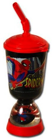 Spiderman Cup with Snowglobe Stand - Childrens Cup with Lid