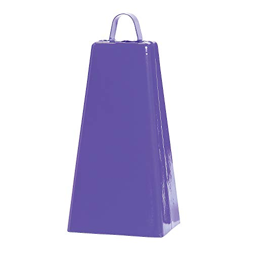 Fun Express - Purple Jumbo Cowbell (pc) - Toys - Noisemakers - Spirit Noisemakers - 1 Piece -