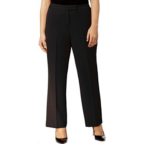Kasper Womens Plus Crepe Suit Seperates Straight Leg Pants Black 20W