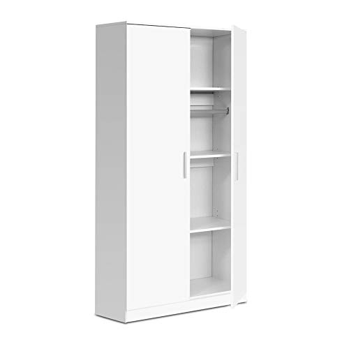 Artiss 180cm Height Wardrobe Wooden Storage Cupboard Cabinet, White