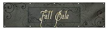 CGSignLab Fall Sale Victorian Frame Wind-Resistant Outdoor Mesh Vinyl Banner 16x4